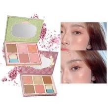 купить!  5 Цветов Матовый Тени для Век Румяна Пудра Выделение Палитра для макияжа глаз Набор для контуров мер