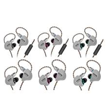 Sports Wire CCA C10 Headset Circle Iron Earphone Ten Unit Bass In - Ear Balance Mobile Iron Sports Phone Universal Wire Control(China)