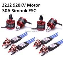 4×2212 920KV безщеточный + 4x 30A Simonk ESC для F450 F550 S500 X525 Quadcopter Multicopter