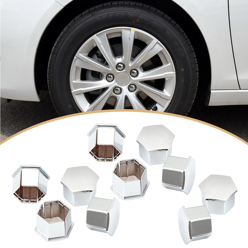 10 Pcs Zeshoekige Wiel Lug Moer Covers Bouten Covers Schroef Beschermen Caps Voor Peugeot 307 308 408 206 207 C4l C5 (zilver)