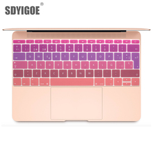 Colorful keyboard film For Mac Book pro 13 Not touch bar 12 Spanish EU Silicone Keyboard Protector Cover Skin Protective Film