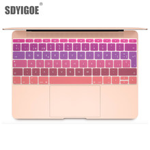 Colorful Keyboard Film untuk Mac Buku Pro 13 TOUCH BAR 12 Spanyol Uni Eropa Silicone Keyboard Protector Cover Kulit Pelindung film(China)