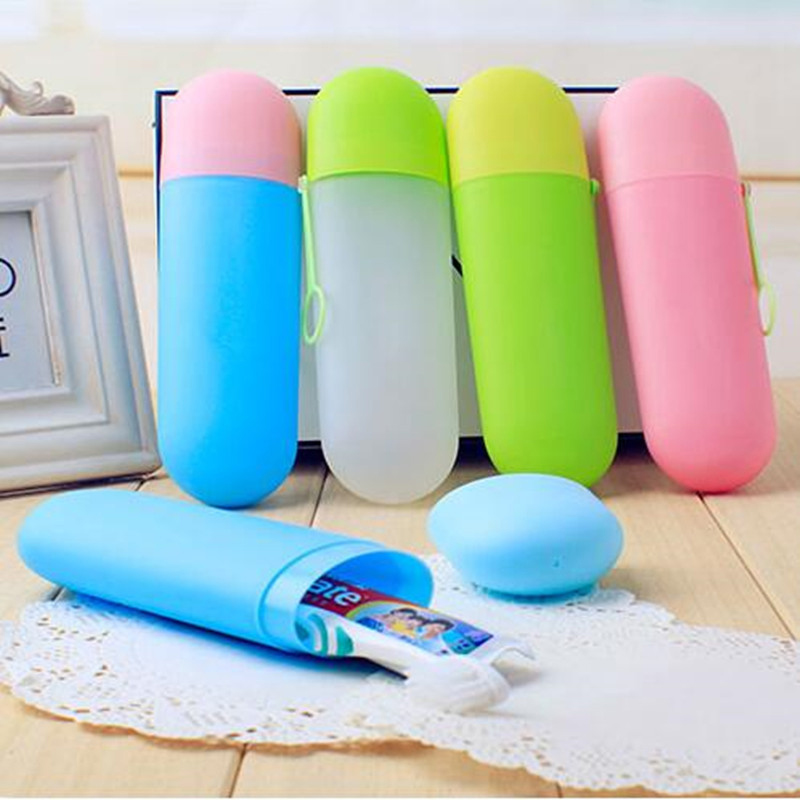 Portable Toothpaste Toothbrush Holder Cover Case for Travel Household Storage Cup Outdoor Holder Bathroom Accessories DA image
