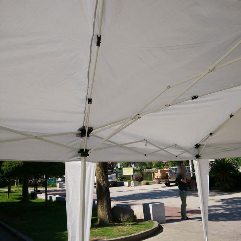 Tente pliante imperméable de Camping extérieur d'utilisation à la maison de 3x6 m avec le sac de transport blanc