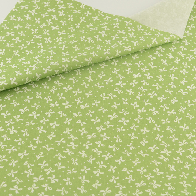 Teramila Patchwork 100% Cotton Fabric for Dolls Tissu Printed White Bowknot Designs Telas Sewing Cloth Twill