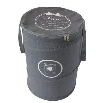 753201ba7 De algodón cesta de lavandería Oxford plegable sucio bolsas de lavandería y cesta  plegable bolsa lavandería cesto con labio