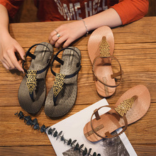 Harajuku Beach Sandals Buckle Strap Women Summer Sandals Flat Ladies Slippers Bohemian Sandles Flip Flops Shoes Woman sandals bohemian flower flip flops women sandals 2018 summer flat shoes woman solid casual ladies sandals fashion women beach sandals