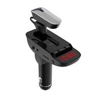 ER9 Bluetooth Wireless Earphone Hands Free MP3 Adapter car FM Transmitter Headset In ear Cigarette Lighter Plug Kit USB Charging