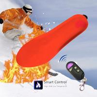 USB Electric Heated Insole Winter Shoes Boots Pad With Remote Control Orange Foam Material Memory Foam Heated Insoles