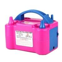 1 шт. 220 В высокой мощности две насадки AC надувной электрический насос для шаров насос для накачивания воздушных шаров воздуходувка насос дл...