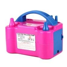 Pompe à Air gonflable 220V, Portable, avec deux buses, haute puissance, pour gonfler les ballons, souffleur dair
