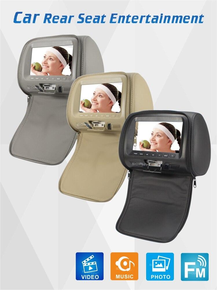 7 inches Universal Car Headrest Monitor with zipper  USB SD MP5  FM Built-in Speaker SH7048L-MP5 Zipper7 inches Universal Car Headrest Monitor with zipper  USB SD MP5  FM Built-in Speaker SH7048L-MP5 Zipper