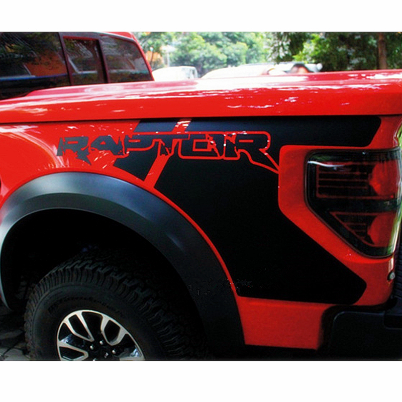 For Ford F150 2009 2010 2011 2012 2013 2014 Auto Body Rear Tail Side Trunk Vinyl Decals Stickers Raptor Graphics SVT Car Sticker