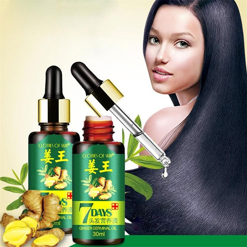 Ginger Essential Oil Hair Growth Essence Hair Loss Liquid 30ml Hair Growth Essence Dense Hair Fast Sunburst Grow TSLM2
