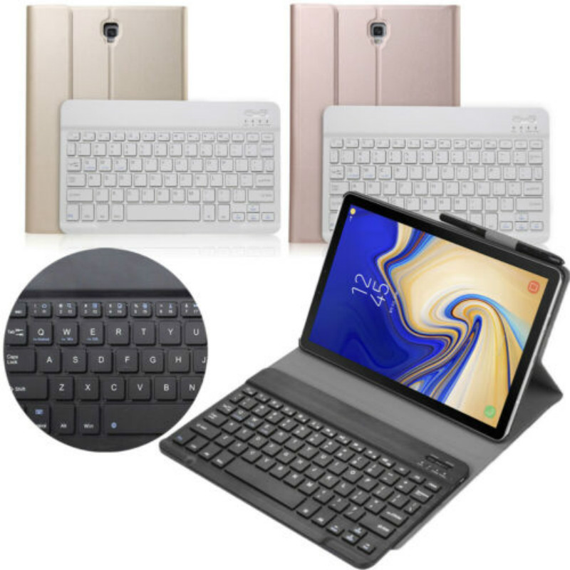 For Samsung Galaxy <font><b>Tab</b></font> <font><b>S4</b></font> 10.5 inch / Wireless Bluetooth <font><b>Keyboard</b></font> Stand Case 3 Color image