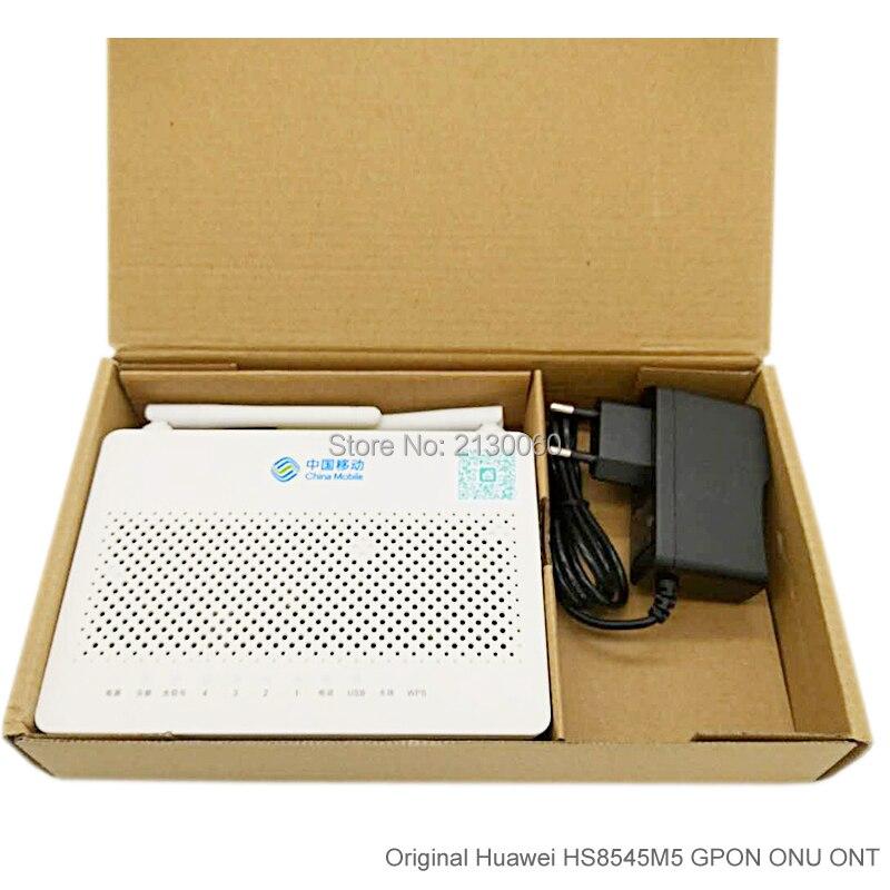 Free Shipping Huawei HS8545M5 GPON ONU ONT 1GE+3FE+1TEL+USB+Wifi, English Firmware Huawei GPON Router Mini Size