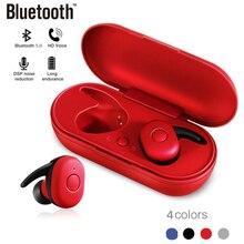 Mini Bluetooth V5.0 Earphone DT-1 TWS Wireless Earbuds True Stereo Waterproof Sport Earphone with Microphone Charging Box blitzwolf bw fye1 bluetooth v5 0 tws true wireless sport earphone tws earbuds hi fi stereo dual microphone w charging box