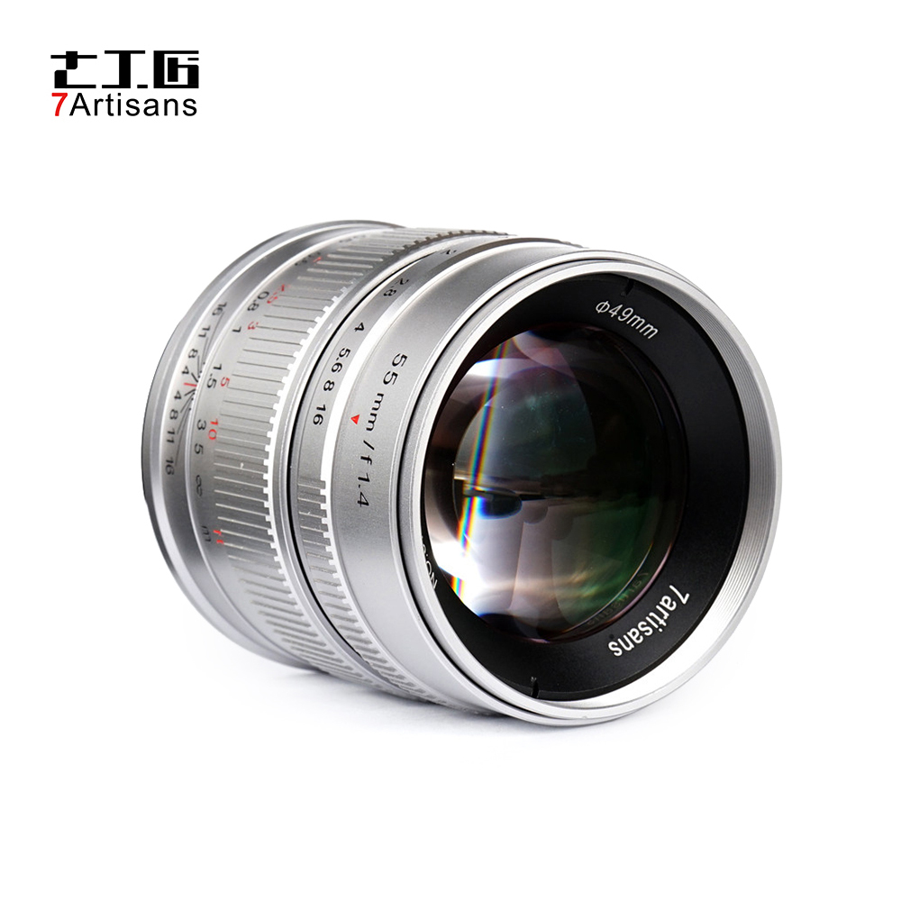 7artisans 55mm F1 4 APS C Aperture Lens MF for Sony E Mount for Canon EOS