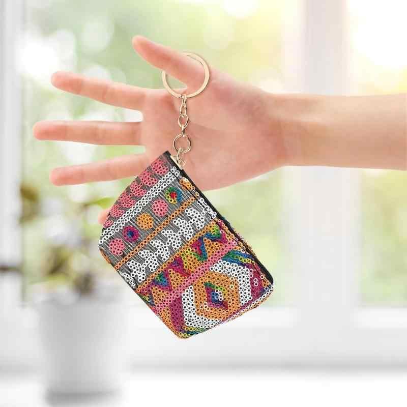 Новое поступление кошелек с рисунком женский ретро богемский квадратный Кошелек из искусственной кожи на молнии для телефона держатель для денег ткачество Клатч S L