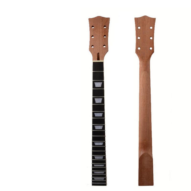22 frette LP Guitare En Acajou Touche Palissandre Touche Secteur et Reliure Inlay pour GINSON LP Guitare Électrique Cou Remplacement