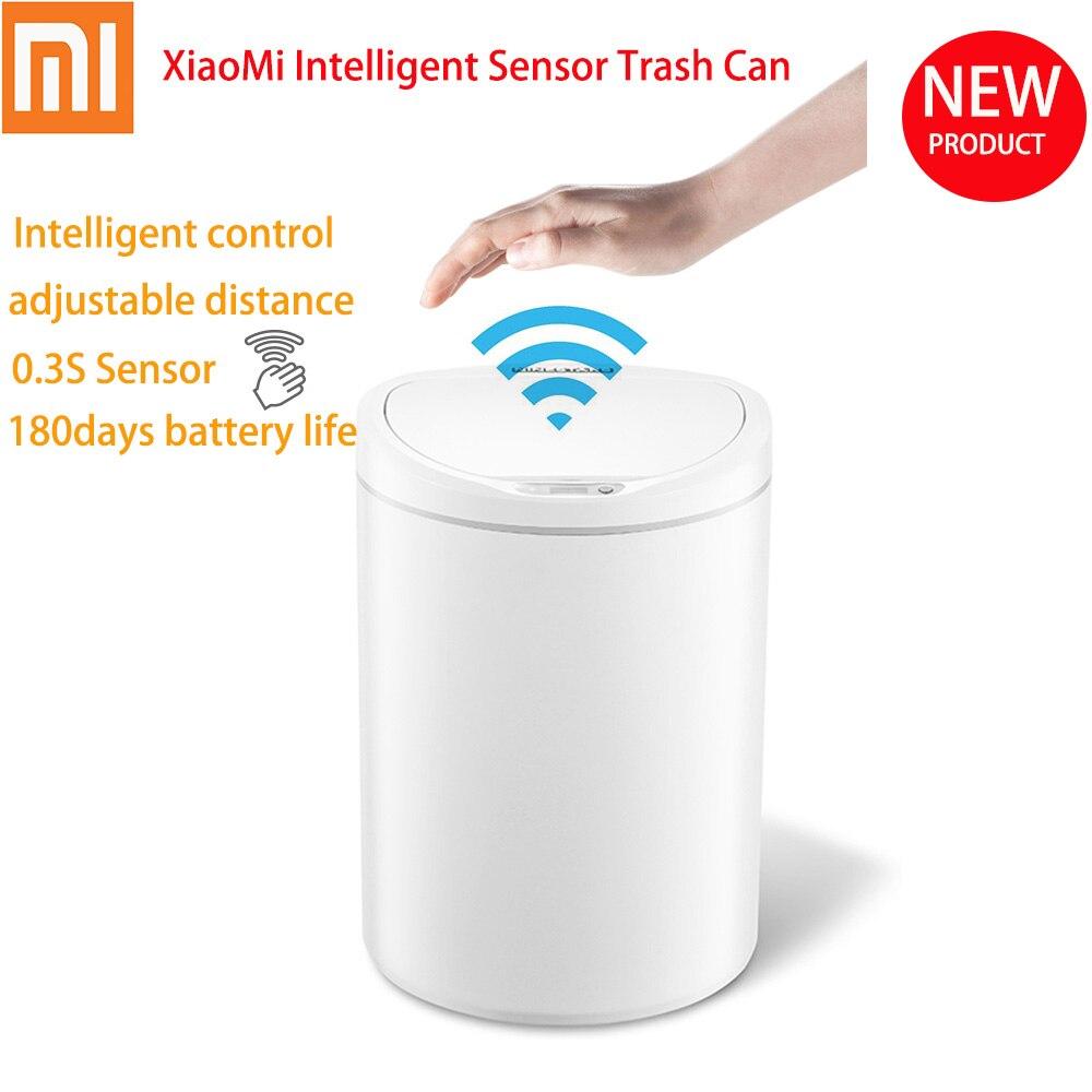 Xiaomi capteur Intelligent poubelle capteur Intelligent poubelle contrôle clé Distance réglable poubelle silencieuse Xiaomi Youpin