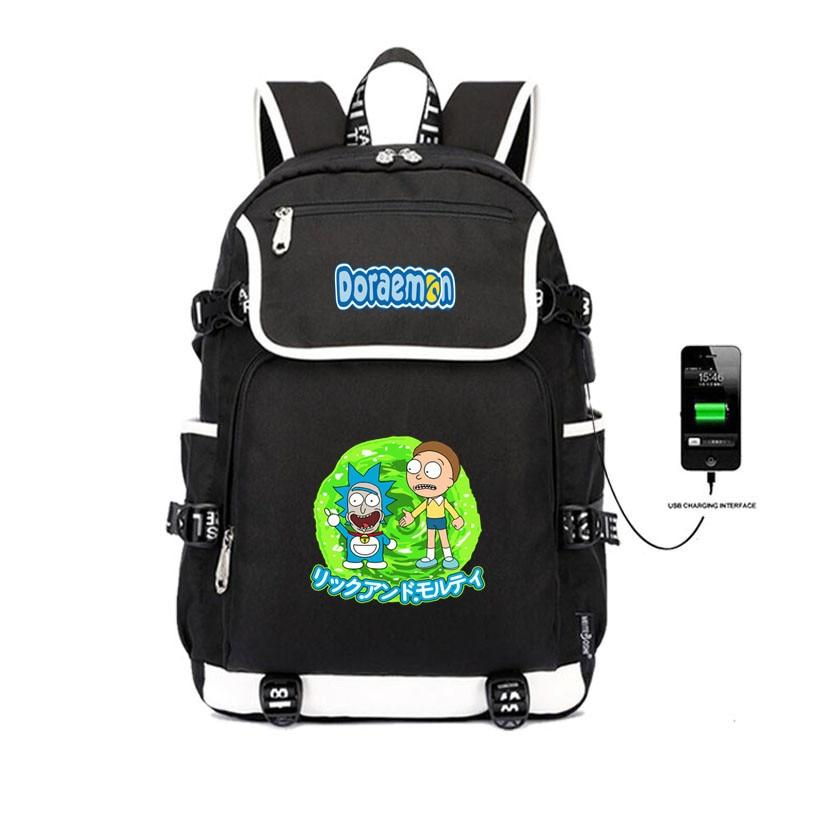 Doraemon backpack USB Charging Laptop Backpack Women Shoulder Bags student book School Bags Anime  cartoon Printing BackpackDoraemon backpack USB Charging Laptop Backpack Women Shoulder Bags student book School Bags Anime  cartoon Printing Backpack