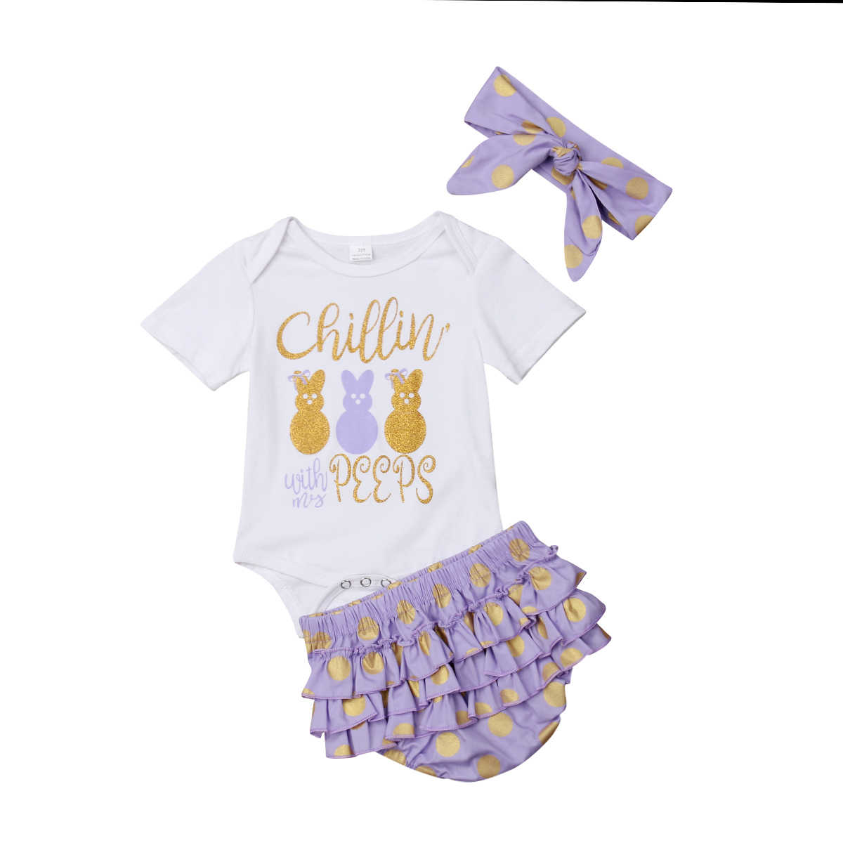 Detail Feedback Questions about Newborn Infant Baby Girl Short Sleeve  Cotton Clothes Set Withe Rabbit Print Tops Romper+Tutu Pants+Headband 3pcs  Easter ... 0f0eba612c6a