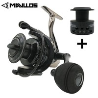 Mavllos Saltwater Carp Spinning Fishing Reel 15BB Ratio 5.5:1 1000 7000 Model 2 Spools Metal Body Sea Boat Jigging Fishing Reel