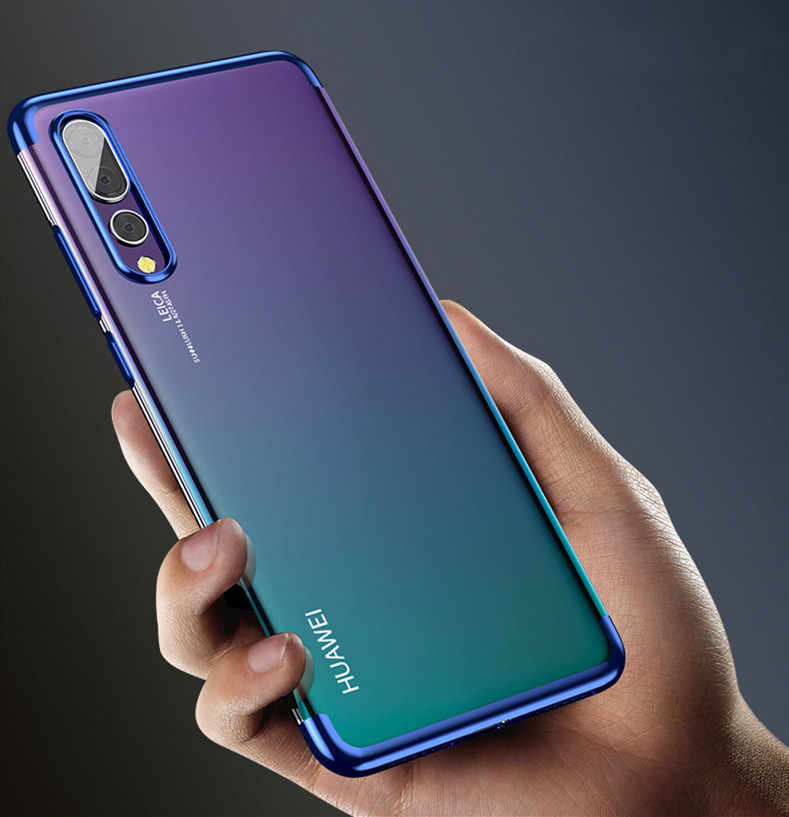 Luxury Plating Clear Soft TPU Case For Huawei Y7 Y9 P Smart 2019  Nova 4 3 3i P20 P30 Pro Honor 8X Lite 8A 8C Honor 10 lite 2019