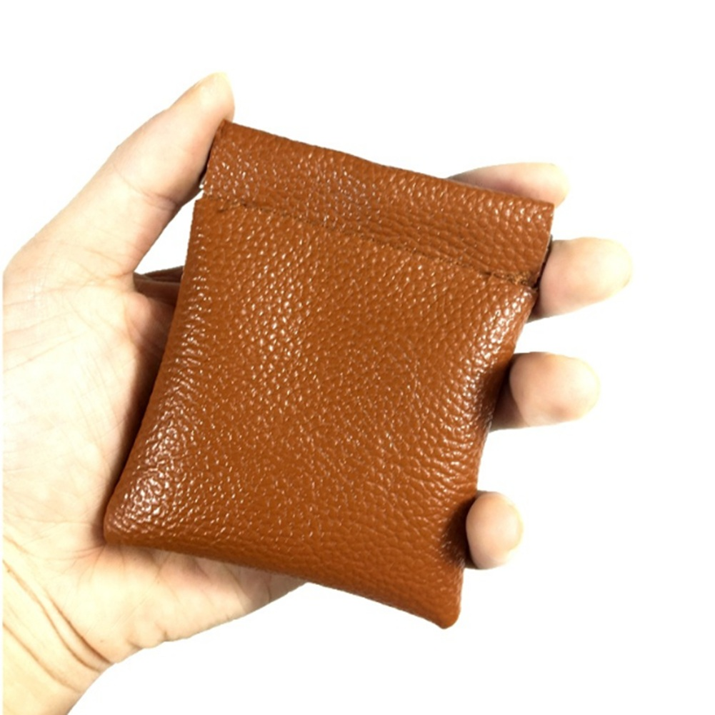 Unisex Small Mini Coin Purses Short Wallet Bag Money Change Credit Card Holder Men Women Leather PU Coin Purse Solid Color in Coin Purses from Luggage Bags