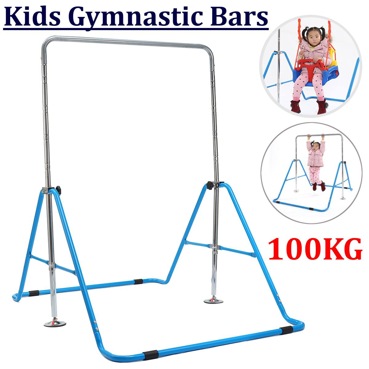 Children Folding Indoor Horizontal Bar Kids Pull-ups Shoulder Joint Training Fitness Toy Tools Adjustable Height Max Load 100KgChildren Folding Indoor Horizontal Bar Kids Pull-ups Shoulder Joint Training Fitness Toy Tools Adjustable Height Max Load 100Kg