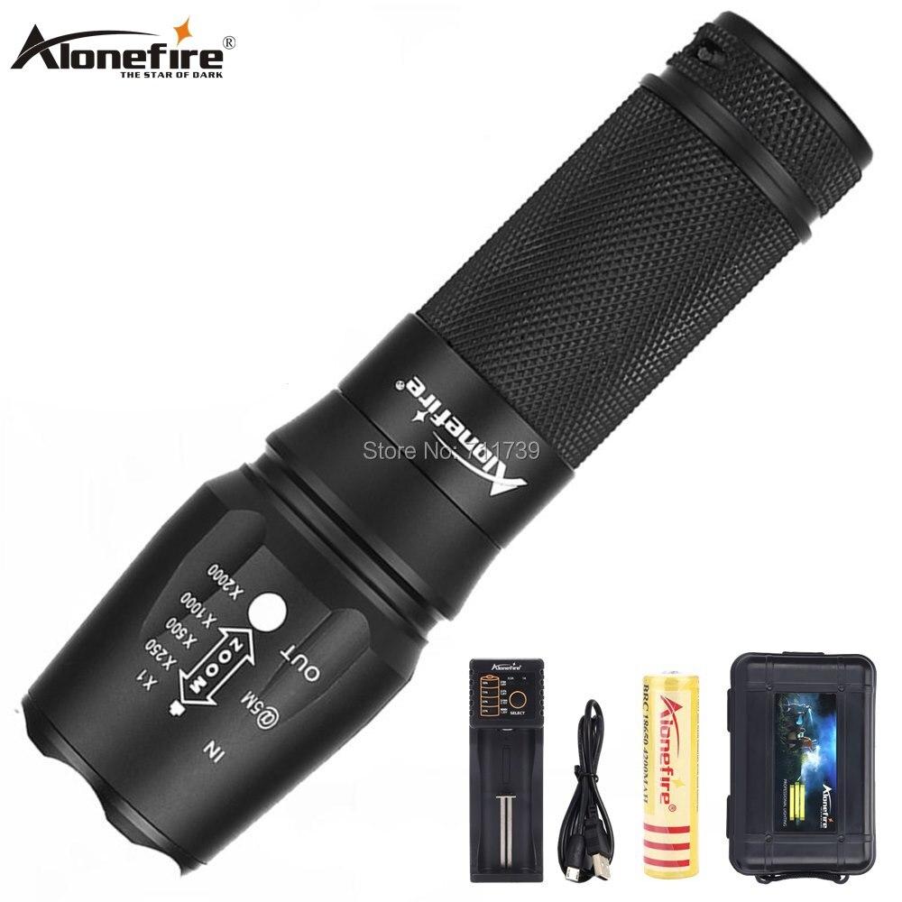 X800 AloneFire CREE NOVO e Poderoso XP-L V6 T6 led Zoom lanterna Troch 12 W super brilhante trabalho de Casa para 18650 26650 bateria LI-Ion