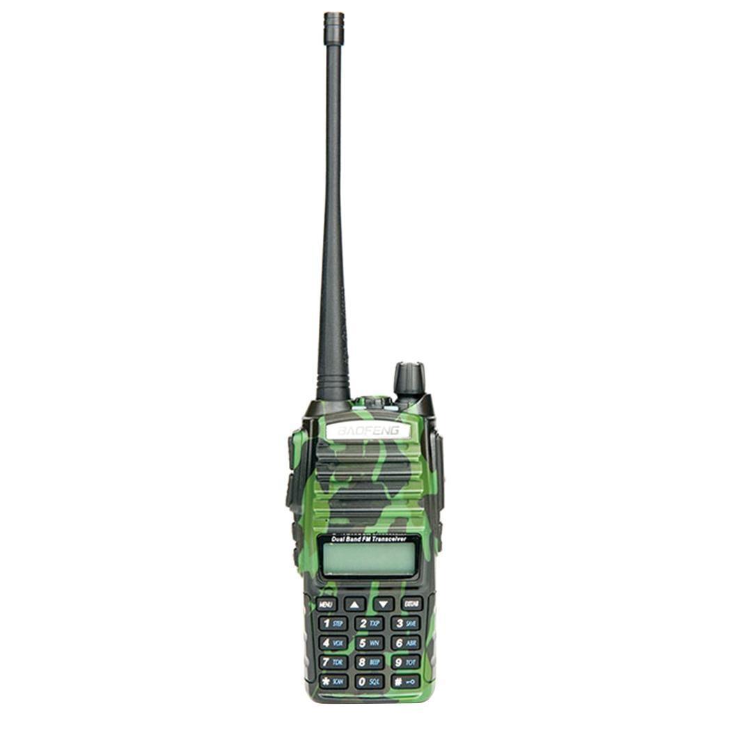 VHF/UHF Двухдиапазонная портативная беспроводная рация 8 Вт двухстороннее радио 128 5-10 км FM приемопередатчик 400-480,00 МГц