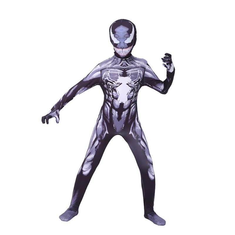 Kids Venom Costume Boys Spiderman Venom Cosplay Superhero Costume Kids Children Halloween Costume For Kids Jumpsuit Bodysuit