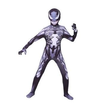 Venom Spiderman Cosplay Costume Marvel Superhero Movie Kids Boys Halloween For