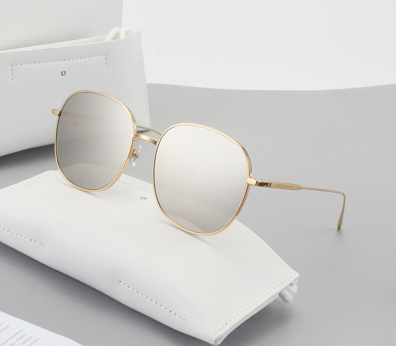 Oversized Sunglasses Men Women Mirror Driving Sunglass Eyewear Gentle Luxury Brand Cool Metal Frame UV400 Glasses Doublebread