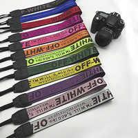 Sangle pour appareil photo reflex blanc cassé sangle de cou en néoprène pour Canon Nikon Pentax Sony Fuji Olympus