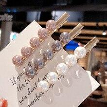 Sale 2019 New Imitiation Pearl Girls Barrettes Women Hair Clip Accessories Weddings Fashion Hairpins