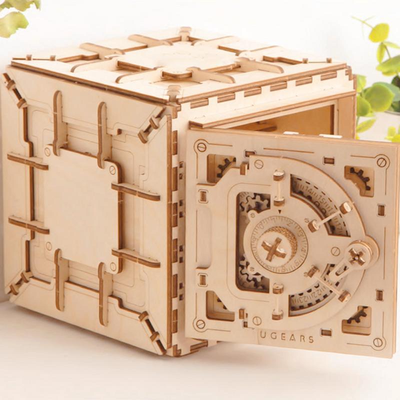 Creative Pandora boîte bloc de construction coffre au trésor en bois boîte de rangement cosmétique artisanat bijoux organisateur maison bureau décoration - 5