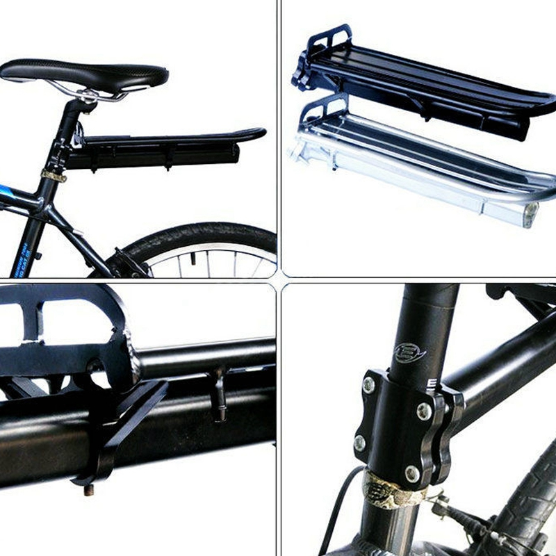 Купить с кэшбэком 2018 NEW Adjustable Aluminum Alloy Bike Mount Cycle Bicycle Rear Seat Rack