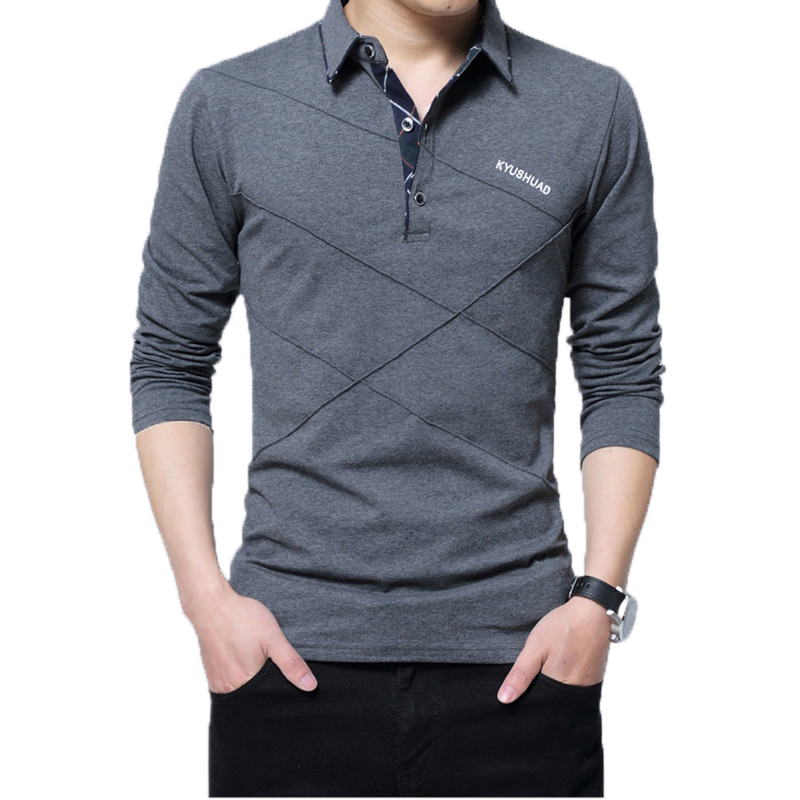 5XL Polo Shirt Collar Men Plus Size 3XL 4XL Autumn Button Brand Men Polo Shirt Long Sleeve Casual Male Shirt Dress Polo Shirts 1