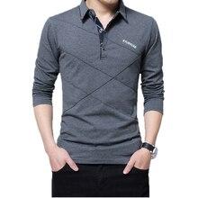 5XL рубашка поло с воротником для мужчин размера плюс 3XL 4XL осенние Брендовые мужские рубашки поло с пуговицами повседневные мужские рубашки ...