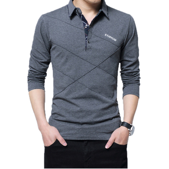 5XL Polo Shirt Collar Men Plus Size 3XL 4XL Autumn Button Brand Men Polo Shirt Long Sleeve Casual Male Shirt Dress Polo Shirts