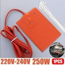 1 шт. 250 Вт 9x13 см поддон для моторного масла, поддон для резервуара, нагреватель, подушка 220 В, силиконовая подстилка для нагревателя, блок гидравлического бака, нагревательная пластина