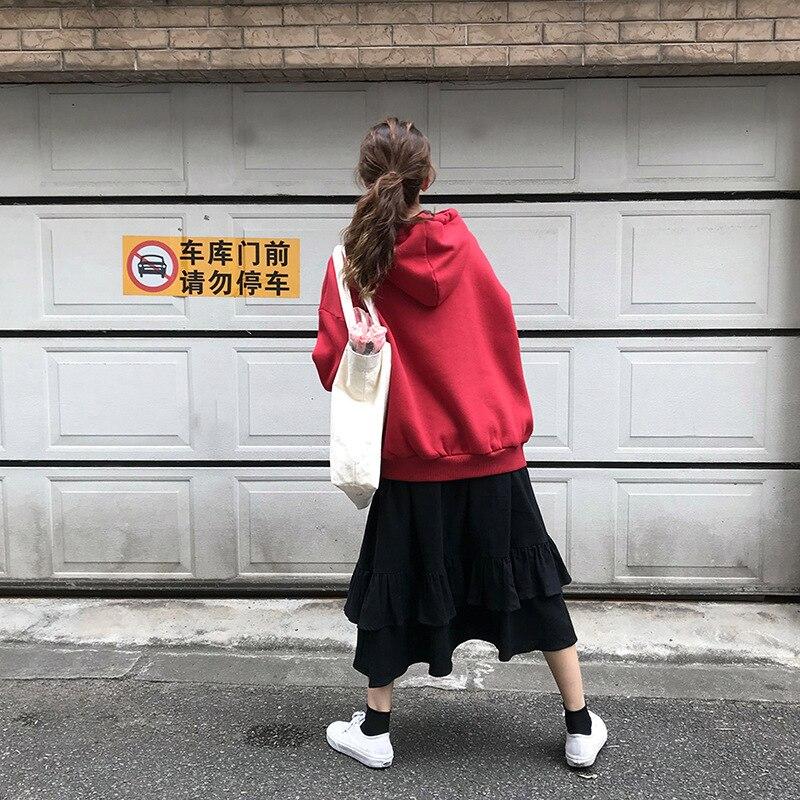 Spring Summer Elastic Waist Skirts Womens 2019 Korean Elegant High Waist A-line Skirt Female School Black Long Skirts Vestidos