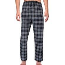 Casual Sleep Wear Pants Mens Tracksuit Bottoms Loose Plaid Sweat Pants Long Trouser Casual Sleepwear