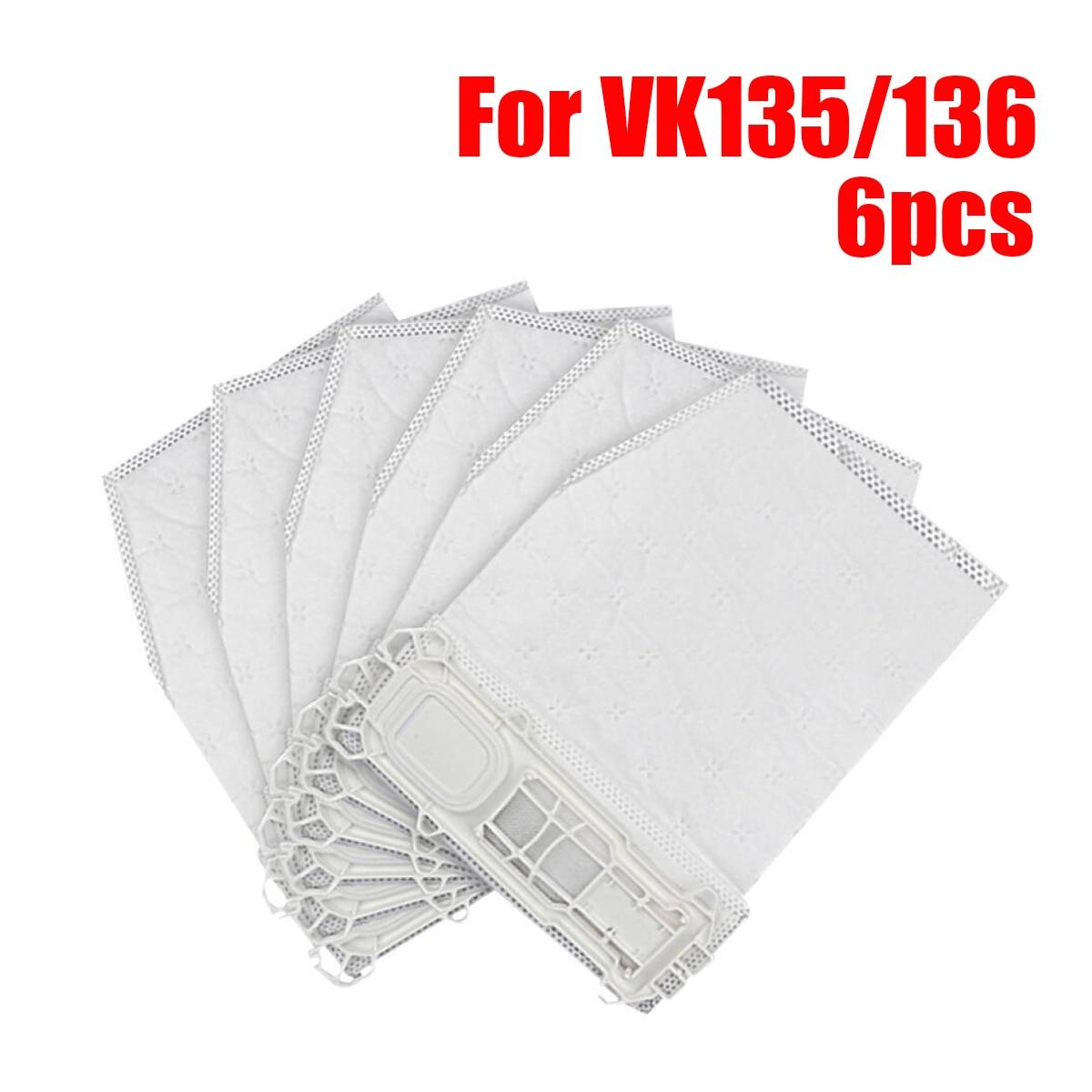 6pcs Vacuum Cleaner Bags Dust Bag for vorwerk VK135 VK136 Vorwerk Kobold Vacuum Cleaner Parts Home Appliance Accessoriess