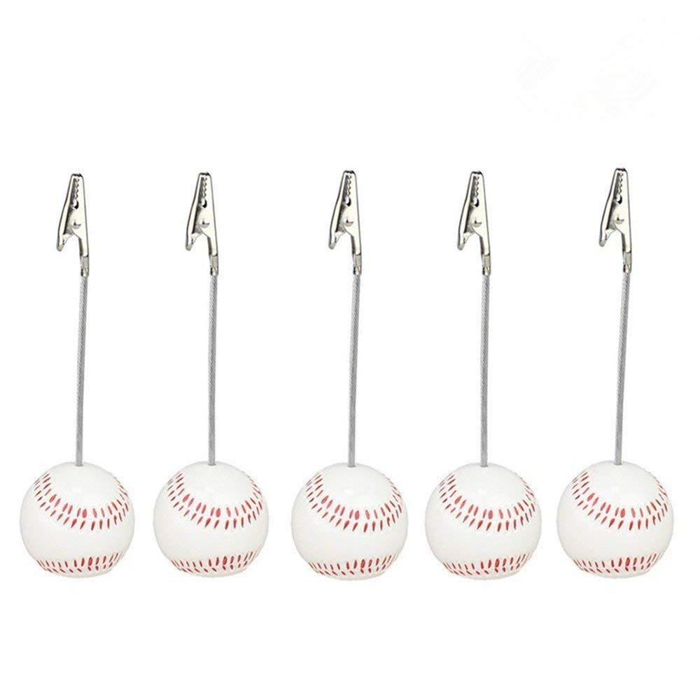 Home Office Baseball Shaped Note Paper Memo Clip Table Number Holder Name Place Card Holder Memo Clip Holder Stand