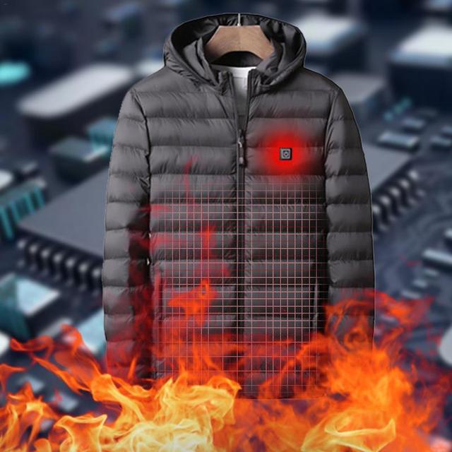 Winter Warm Heating Jackets Men Women Smart Thermostat Hooded Heated Clothing Men's Waterproof Skiing Hiking Fleece Jackets 2