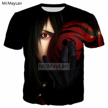 Cool Mask 3D Print Anime Naruto Tshirt Men/women Hiphop Streetwear T-Shirt T shirt Harajuku Boys Black Clothing 5XL moda hombre